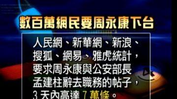 【中国禁闻】數百萬網民怒吼 要周永康下台