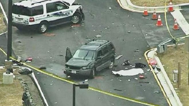 2男驾车闯美国安局总部 引爆枪击1死2伤