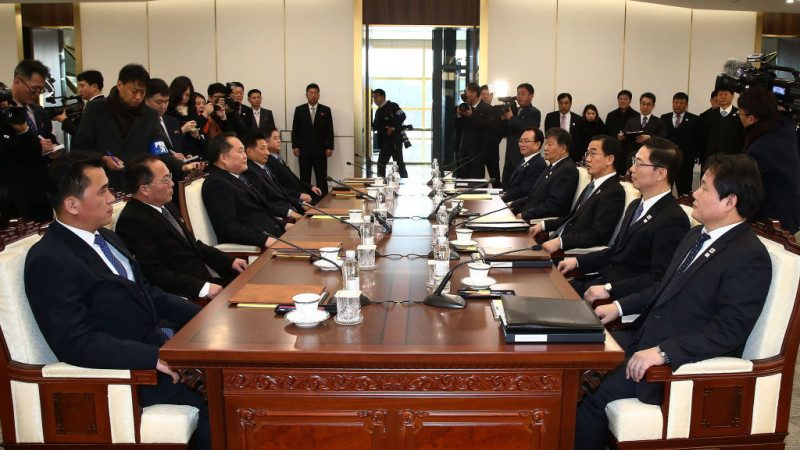 破冰会谈 韩提议:冬奥开幕 韩朝代表团共同入场