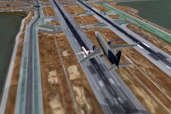 塔台紧急下令重飞 旧金山机场险酿撞机