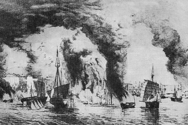 太平天国拒绝平分中国 炮击外国侵华战舰