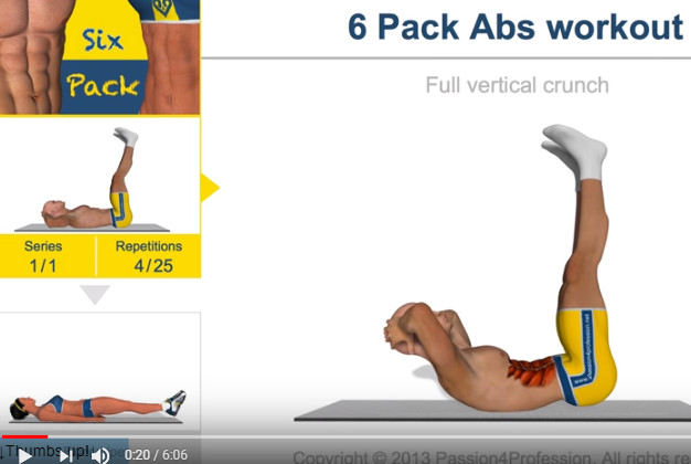 想要6块漂亮腹肌 快来一起运动吧(视频)