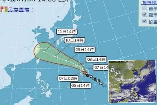 """""""玛莉亚""""现清晰台风眼 美军预测恐成""""超级台风"""""""