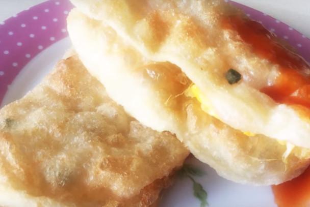 炸蛋葱油饼 美味简单做(视频)