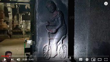 印度千年寺廟發現「古人騎自行車」(視頻)