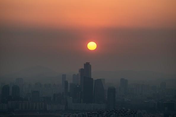 华北阴霾影响首尔PM2.5飙升 韩环团欲告中共