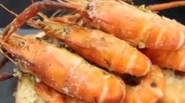 盐炒虾 超简单料理(视频)