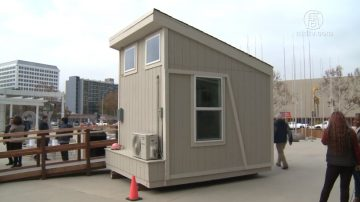 游民小木屋模型揭幕 圣荷西居民质疑选址