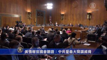 美情报官国会听证:中共是最大间谍威胁