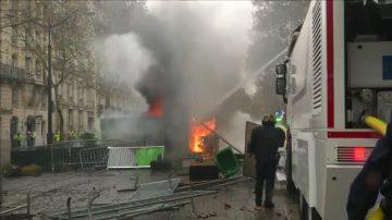 巴黎爆十年来最激烈冲突 200多人被捕