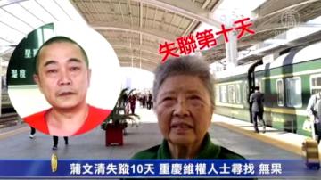 蒲文清失踪10天 重庆维权人士寻找 无果