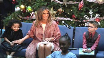 梅拉尼娅连日拜访军人和儿童 祝福圣诞