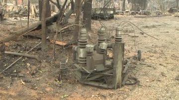 野火调查:PG&E处发现故障设备