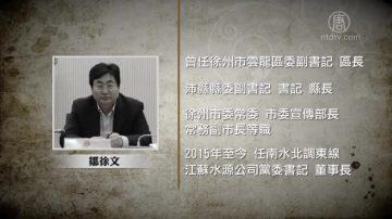南水北調東線江蘇水源公司董事長鄒徐文被查