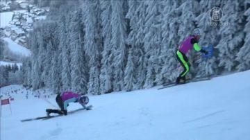 踩滑雪板爬山!雪地升降賽選手需闖四關
