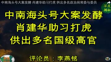 中南海頭號大案發酵 肖建華助習打虎 供出多名政治局常委與委員