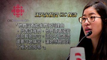 王炳章之女中國探父被遣送出境