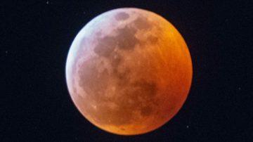 超级血狼月 三大天文奇观同时出现
