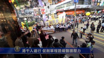 港千人遊行 促削單程證緩醫護壓力
