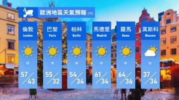 2月15日全球天气预报