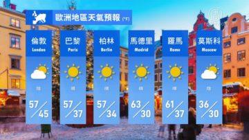 2月16日全球天气预报
