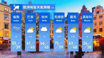 3月16日全球天氣預報