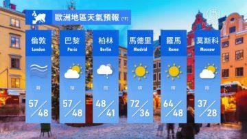 3月15日全球天氣預報